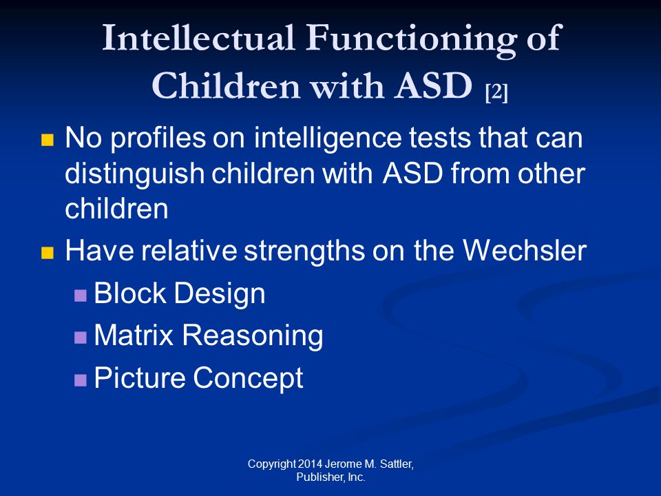 Intellectual Functioning of Children with ASD [2]